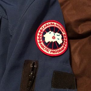 Small blue Canada goose jacket